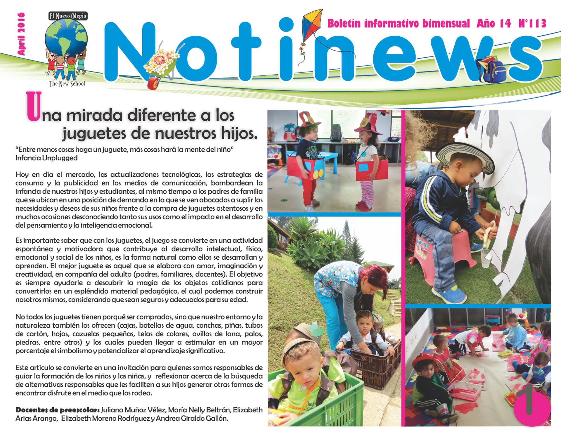 NOTINEWS • Abril 2016 - pag. 1